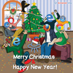 Merry Christmas and Happy New Year - Webcomic about programming, web design and web browsers